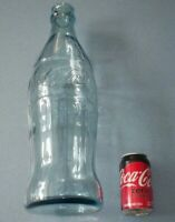 VINTAGE 20 INCH COKE COCA COLA ADVERTISING PROMO GLASS BOTTLE MEXICO