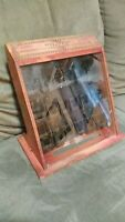 RARE Old Vintage Antique Boye sewing needles cabinet store display case style 1