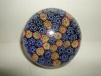 Vintage Milifiori Art Glass Paperweight