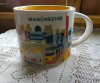 Starbucks Manchester Mug YAH Train Soccer Guitar England UK Cup You Are Here