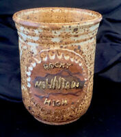 HAND Made Thrown Stoneware Coffee Mug - Rocky Mountain High - Signed SNYDER