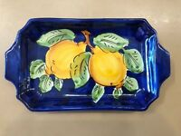Vietri Pottery-7,3/4 X 4  inch Tray With Lemon.Made/Painted by hand in Italy