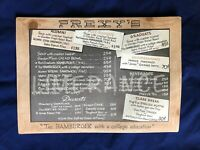 Jean Shepherd Signed Drawing of Hamburger Plate on the Back of Prexy#x27;s Menu 1961