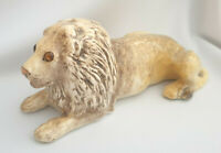 **Rare Winstanley Pottery Size 4 Leo Lion Glass Eyes Signed**