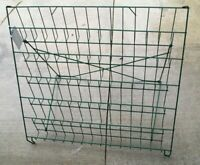 Vintage Counter GREEN Top Store WIRE DISPLAY RACK Metal Country Hardware