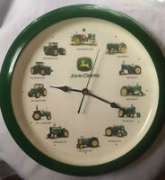 John Deere Tractor Wall Clock Makes Tractor Sounds On The Hour Agricultural Farm