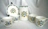 Norway 1 Pitcher, 4 cups and 1 Plate, Valla Figgjo Flint Blue Green Red Yellow