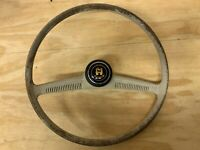 VW Oval Bug Steering Wheel New Horn button 1956-1959 Ivory Vintage Mini Bat Wing