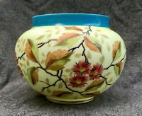 Large Antique Moser Czech Bohemian Glass Bowl Vase Hand Painted