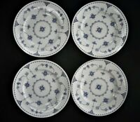 FRANCISCAN England  DENMARK BLUE  English Ironstone  4- DINNER PLATES  10 1/8