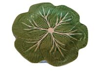 BORDALLO PINHEIRO majolica Green Cabbage Leaf 6 Plates