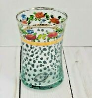 Mackenzie Childs Victoria and Richard Small Glass Cup Retired RARE 3 1/2
