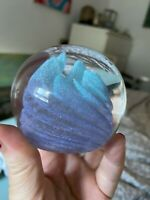 GLASS PAPERWEIGHT SIGNED