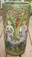 "Weller Flemish Pottery 20"" Umbrella Stand"