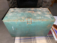 Vintage Milk Box Crate Green Pre 1950#x27;s Union Made Affiliated with A.F. of L.