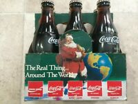 1990 COCA COLA 6 PACK BOTTLES NEVER OPENED CHRISTMAS AROUND THE WORLD 1 Pack