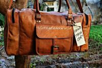 Bag Leather Travel Men Luggage Gym Duffel S Vintage Overnight Weekend Duffle New