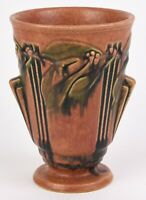 ROSEVILLE LAUREL RUST VASE SHAPE NUMBER 673 8quot; GREAT COLOR AND MOLD