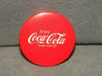 Enjoy Coca Cola Pin Back Button 1.5quot;