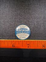 Vintage sample size Rawleigh#x27;s Medicated Ointment Advertising Medicine Tin.