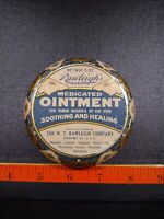 Large Vintage Rawleigh#x27;s Medicated Ointment Advertising Medicine Tin.