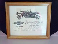 WOOD FRAMED REPO ADVERTISEMENT FOR 1915 ROYAL MAIL ROADSTER BY CHEVROLET SIGN