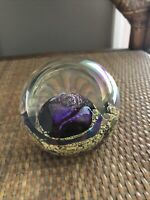 HANDCRAFTED SIGNED GLASS EYE STUDIO GES ART PAPERWEIGHT SERIES VENUS No Box