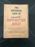 The Universal Code of Formerly Unwritten Rules $10.00
