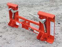 Kubota LA240 and LA243 Tractor Loader to Skid Steer Quick Attach Adapter 835130