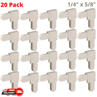 20Pcs White Plastic Replacement Corners for Mobile Home Screen Frames 1 4quot;x5 8quot; $11.99