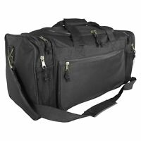 DALIX 20quot; Sports Duffle Bag w Mesh and Valuables Pockets Travel Gym Black
