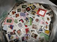 50 Christmas Forever USA Used on paper Stamps. No flags