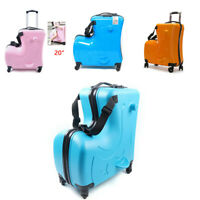 20quot; Kids Ride on Trolley Luggage Travel Rolling Suitcase Boys Girls Luggage Cart