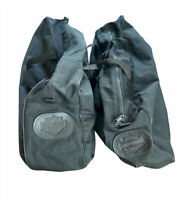 2 Harley Davidson Duffle Bags Motorcycle Zipper Bag Storage Travel Carry Luggage