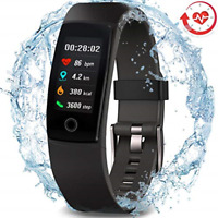 Waterproof Health TrackerMorePro Fitness Tracker Color Screen Sport Smart with $43.95