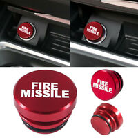 Red Universal Fire Missile Button Car Cigarette Lighter Cover Car Accessories $7.36