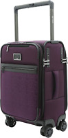 Mamp;A Dual Opening Wide Trolley Hardside Luggage Purple Carry On 22 Inch