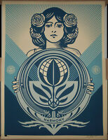 Shepard Fairey Protect Biodiversity Cultivate Harmony Screen Print Poster Signed $239.34