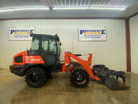 2017 KUBOTA R630 CAB ARTICULATING WHEEL LOADER WITH A C AND HEAT