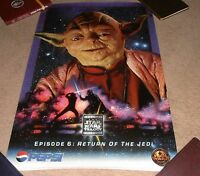 VINTAGE 1996 RARE STAR WARS EPISODE 6 RETURN OF THE JEDI PEPSI POSTER