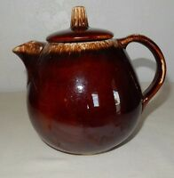 Hull Tea Pot Teapot with Lid Brown Drip Ware Oven Proof