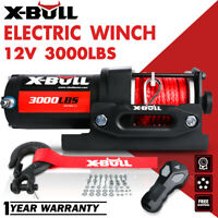 X-BULL 4500LBS 12V Electric Winch Steel Cable Towing Truck Off Road ATV