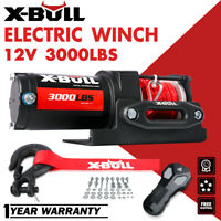 X-BULL 12V 4500LBS Electric Winch Synthetic Rope Trailer Towing Off Road UTV ATV