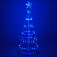 Blue LED Animated Light Show Motion Christmas Tree Outdoor Decoration 14 Effects