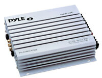 Pyle PLMRA400 4 Ch 400Watt Water Proof Marine Boat ATV Amp Power Amplifier