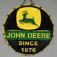 Metal JOHN DEERE Tractor Sign Gas Oil Garage Man Cave Home Decor Recycled #2