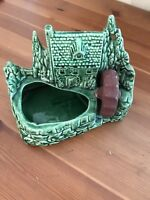 Shawnee USA 769 Grist Mill Planter Pot Vintage Green Art Pottery Flower Plant