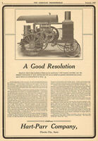 LARGE OLD 1907 HART-PARR GASOLINE TRACTION ENGINE TRACTOR AD CHARLES CITY IOWA