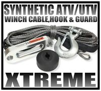 XTREME  50' SYNTHETIC ATV/UTV WINCH CABLE, HAWSE, HOOK & GUARD PACKAGE