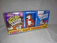 Vtg 1998 Tony The Tiger Plush W/ Frosted Flakes Cereal Boxes Unopened Kelloggs